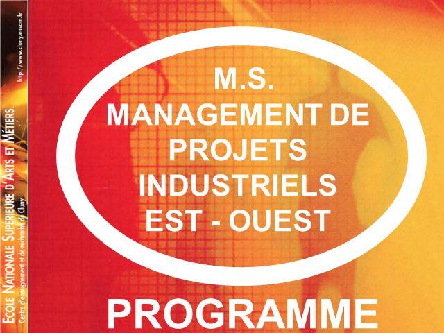 MANAGEMENT DE PROJETS INDUSTRIELS