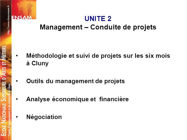 UNITE 2 Management – Conduite de projets