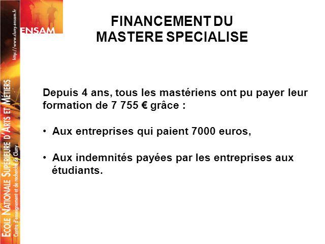 FINANCEMENT DU MASTERE SPECIALISE