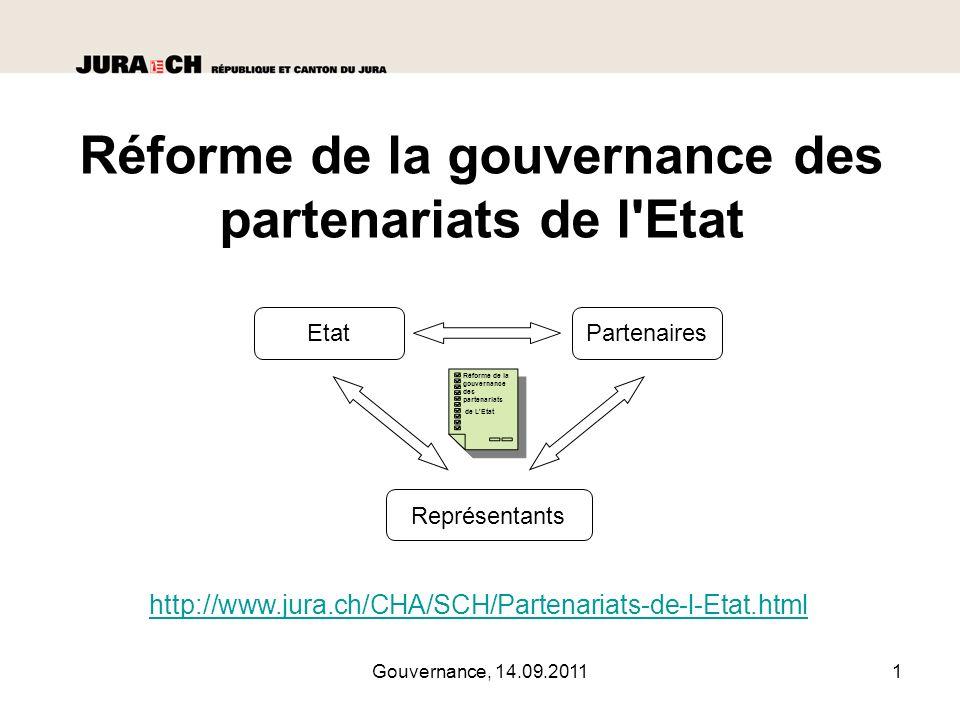 Réforme de la gouvernance des partenariats de l Etat