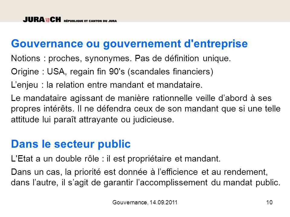 Gouvernance ou gouvernement d entreprise