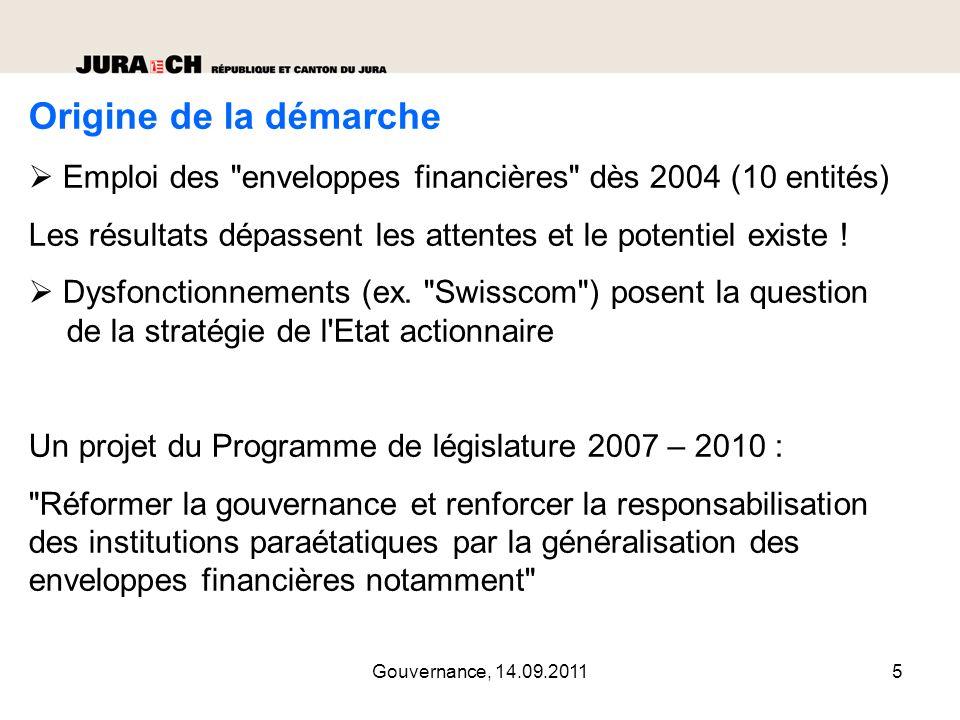 Origine de la démarche  Emploi des enveloppes financières dès 2004 (10 entités) Les résultats dépassent les attentes et le potentiel existe !