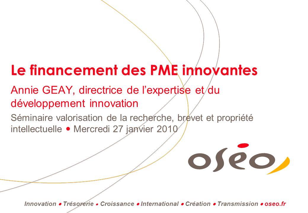 Le financement des PME innovantes