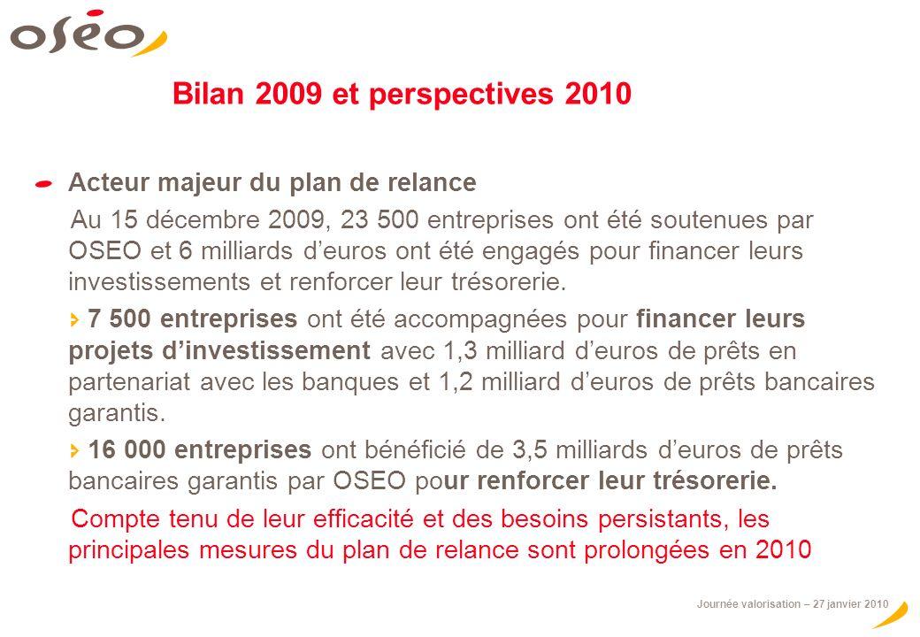 Bilan 2009 et perspectives 2010 Acteur majeur du plan de relance