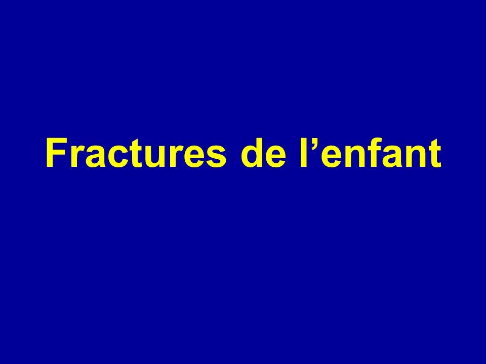 Fractures de l'enfant