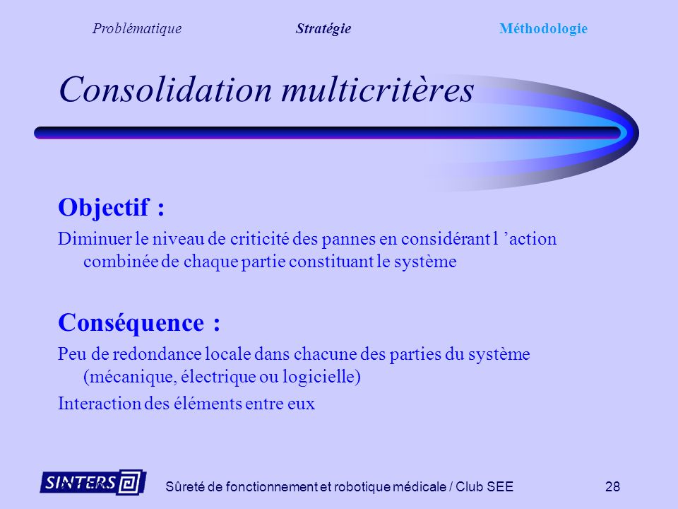 Consolidation multicritères