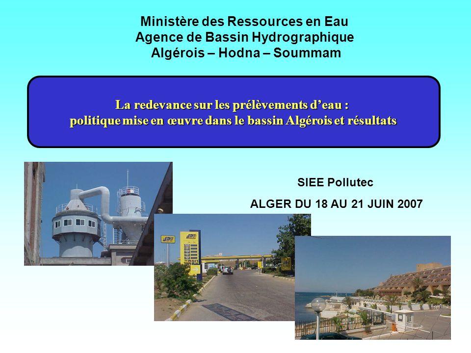 Ministère des Ressources en Eau Agence de Bassin Hydrographique