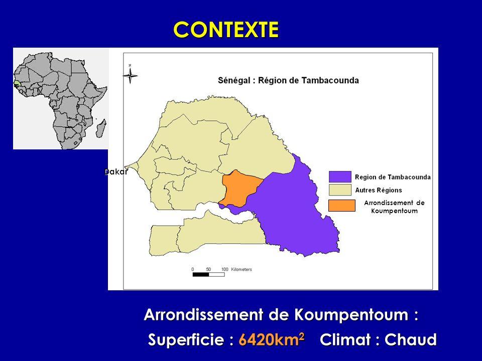 CONTEXTE Arrondissement de Koumpentoum :