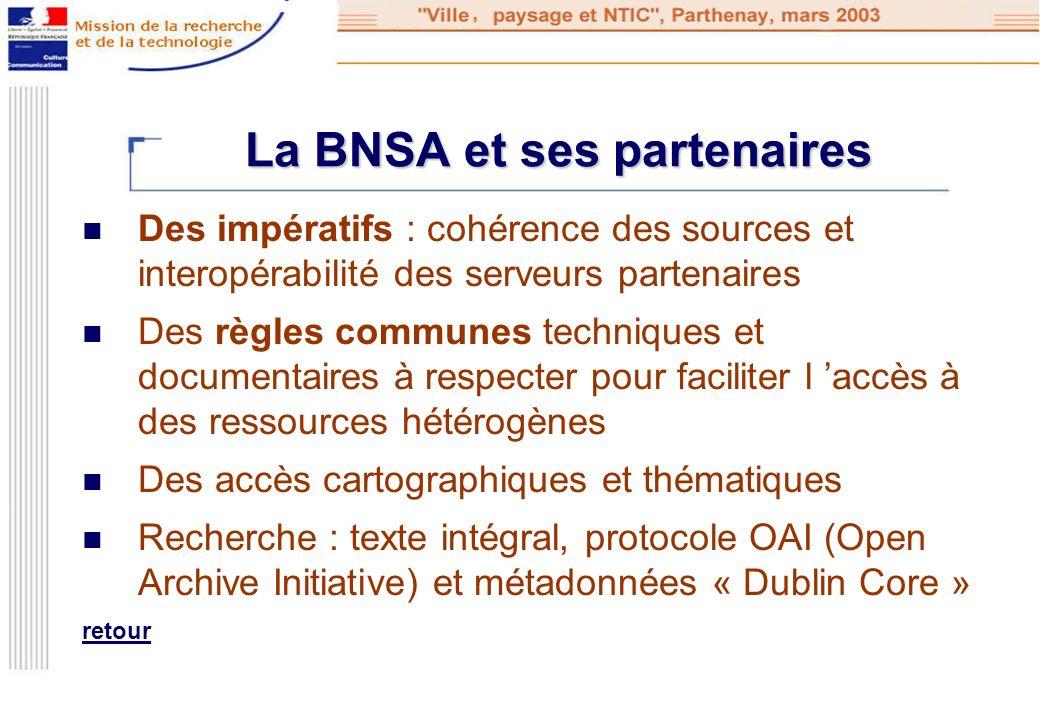 La BNSA et ses partenaires
