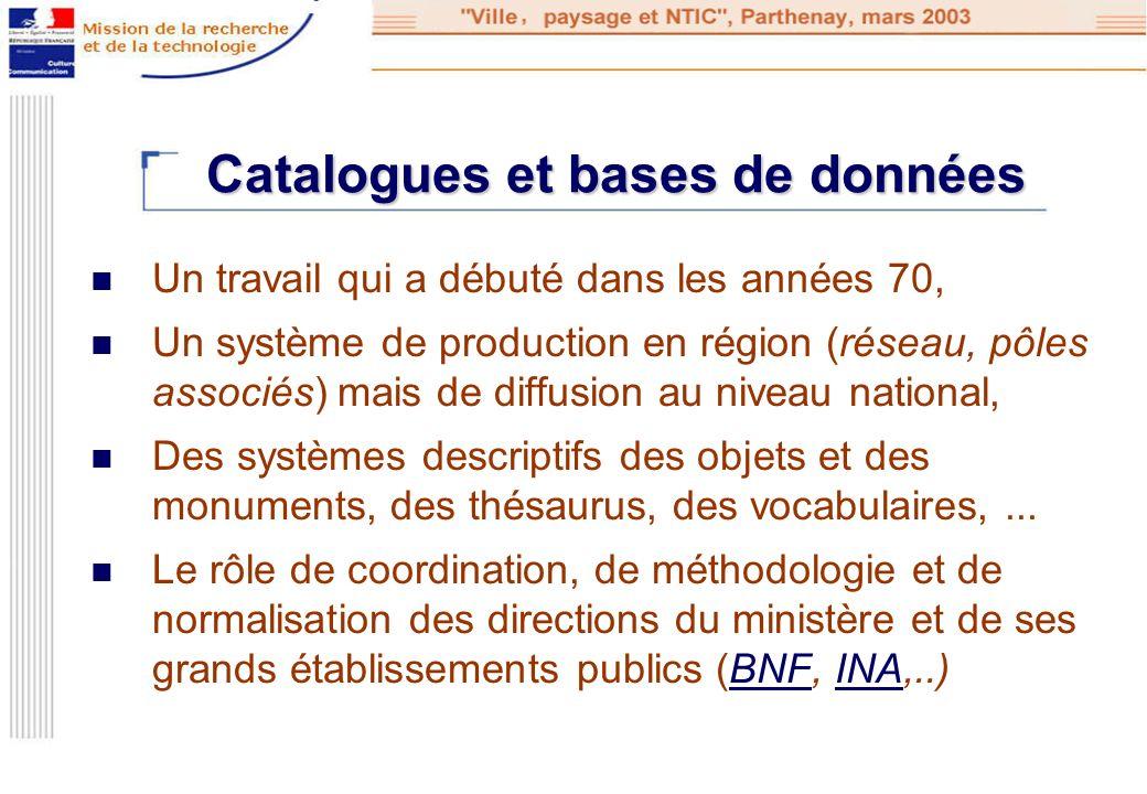 Catalogues et bases de données