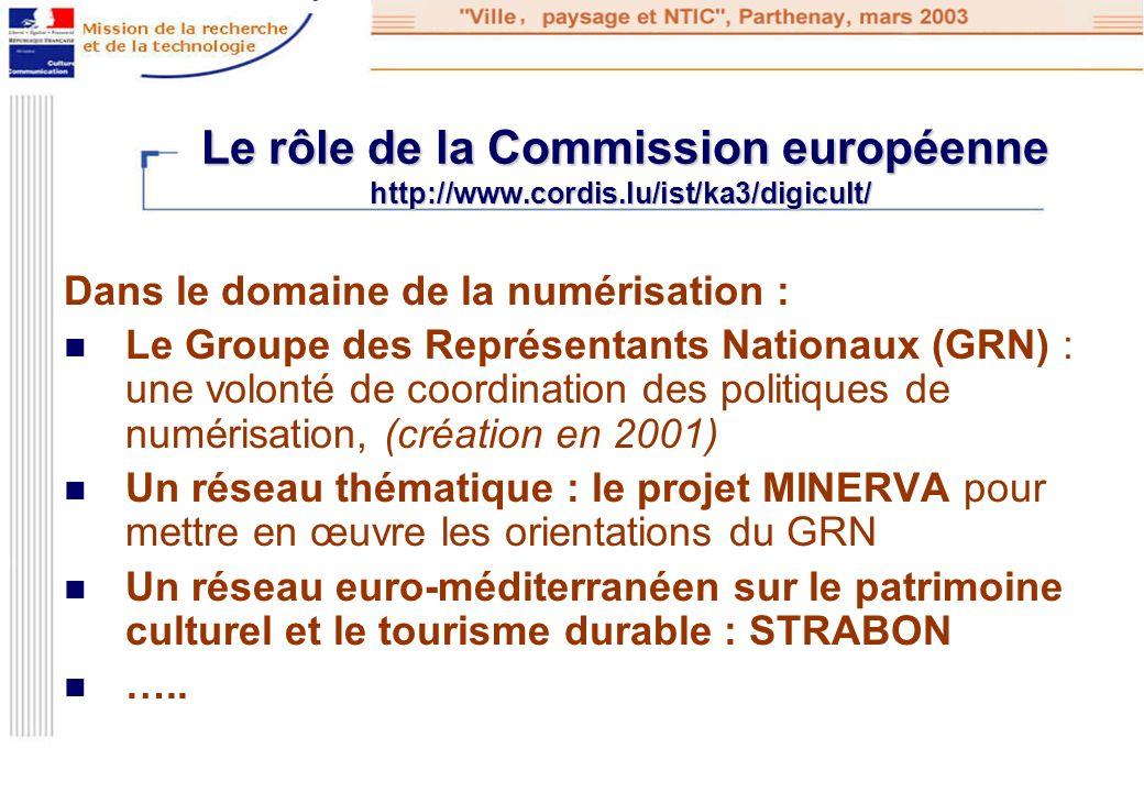 Le rôle de la Commission européenne http://www. cordis