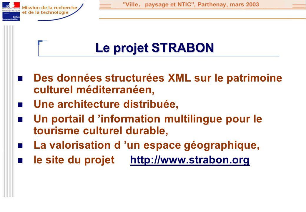 Le projet STRABON Des données structurées XML sur le patrimoine culturel méditerranéen, Une architecture distribuée,