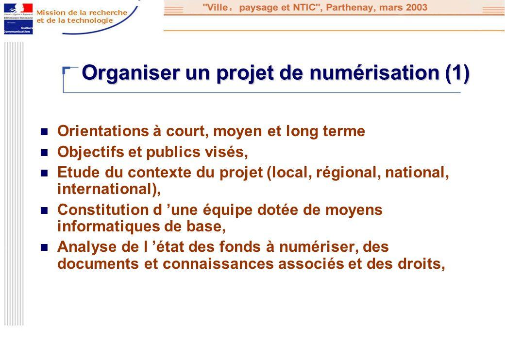 Organiser un projet de numérisation (1)