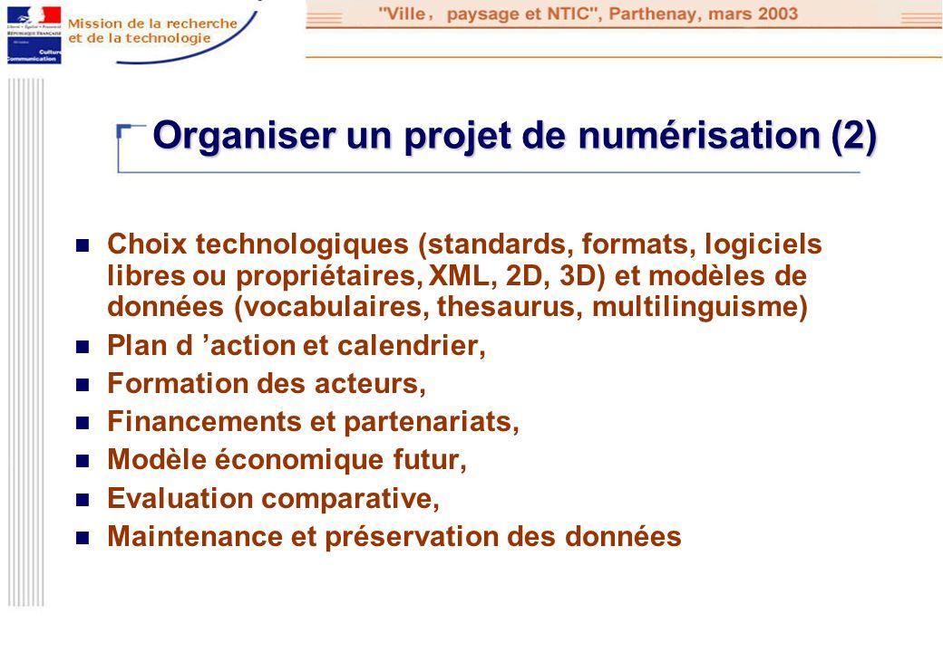 Organiser un projet de numérisation (2)