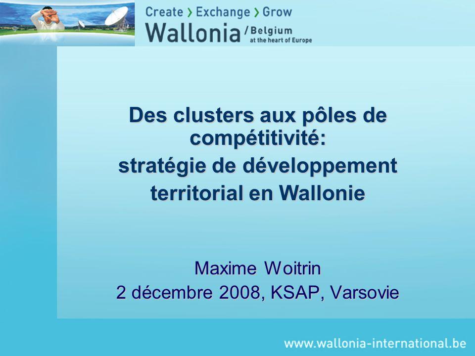 Des clusters aux pôles de compétitivité: stratégie de développement