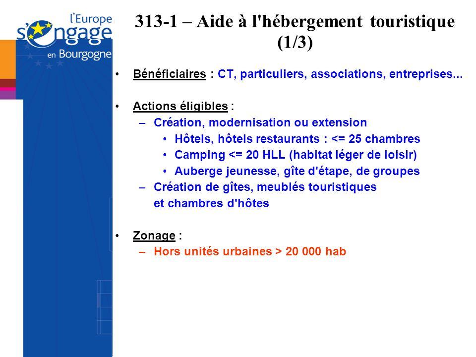 313-1 – Aide à l hébergement touristique (1/3)