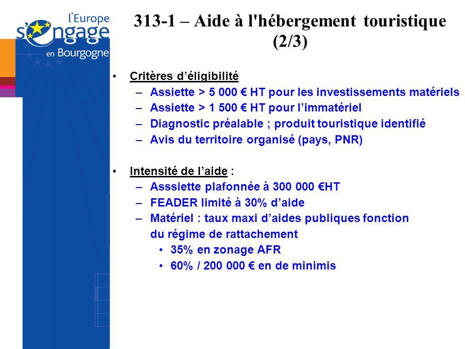 313-1 – Aide à l hébergement touristique (2/3)