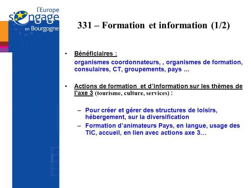 331 – Formation et information (1/2)