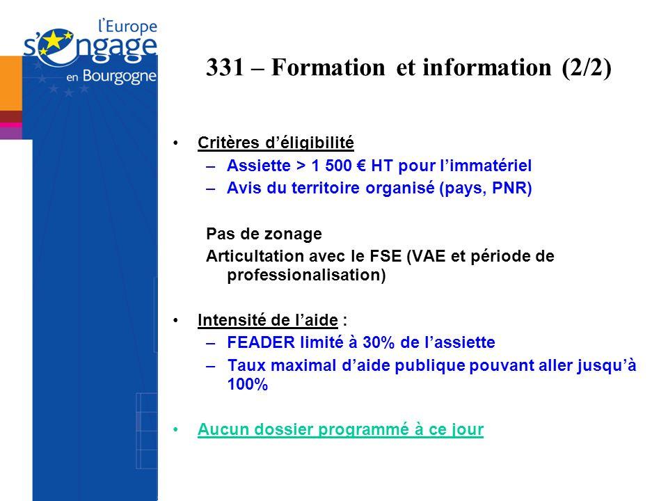 331 – Formation et information (2/2)