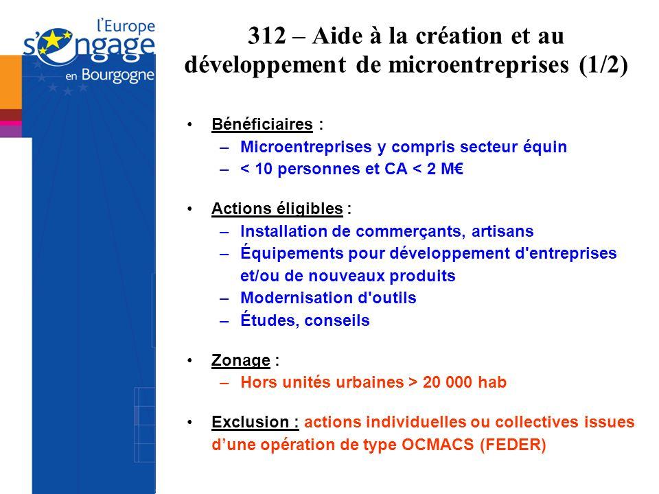 312 – Aide à la création et au développement de microentreprises (1/2)