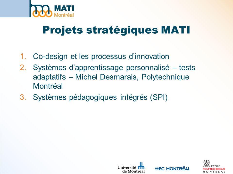 Projets stratégiques MATI