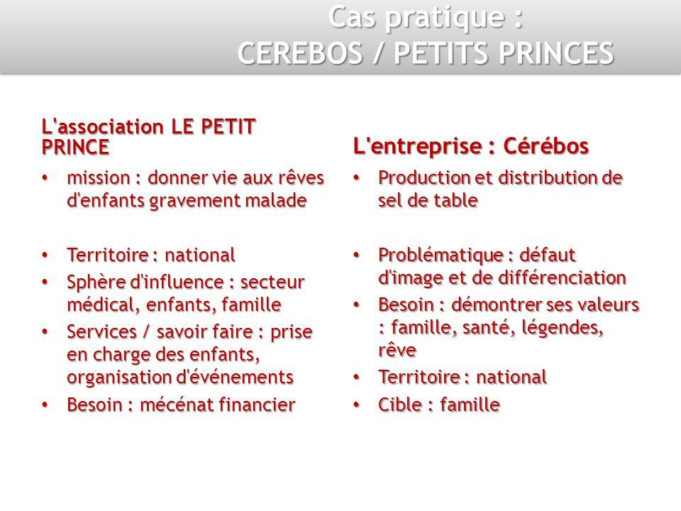 Cas pratique : CEREBOS / PETITS PRINCES