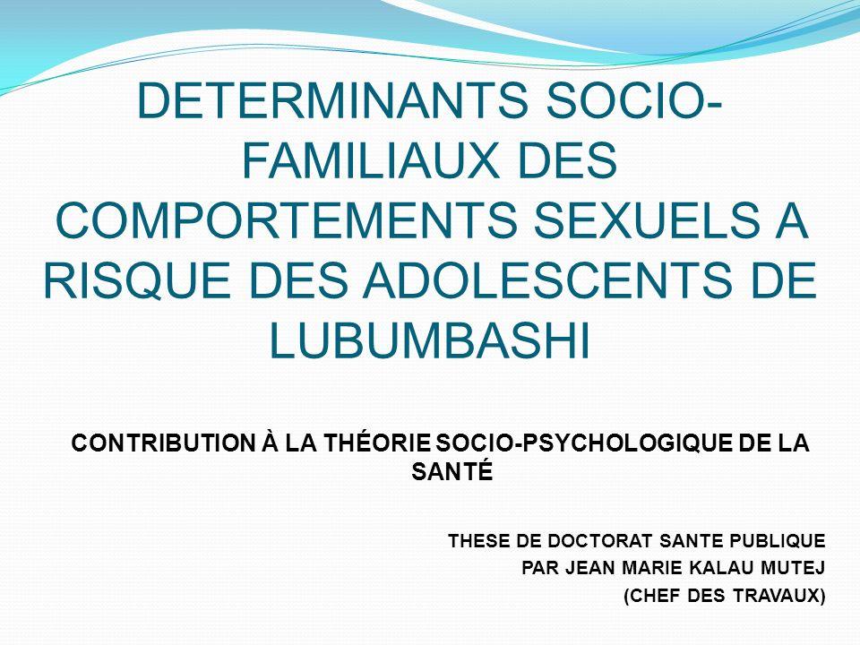 contribution à la théorie socio-psychologique de la santé