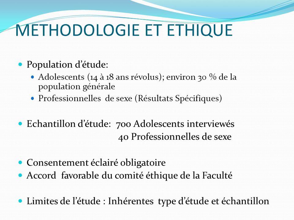 METHODOLOGIE ET ETHIQUE