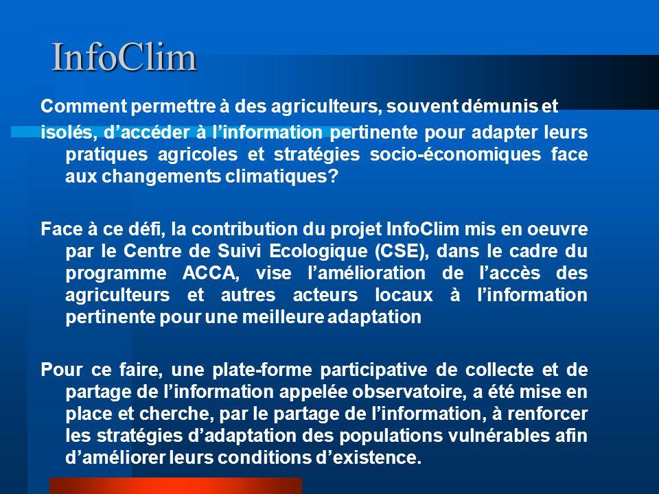 InfoClim Comment permettre à des agriculteurs, souvent démunis et