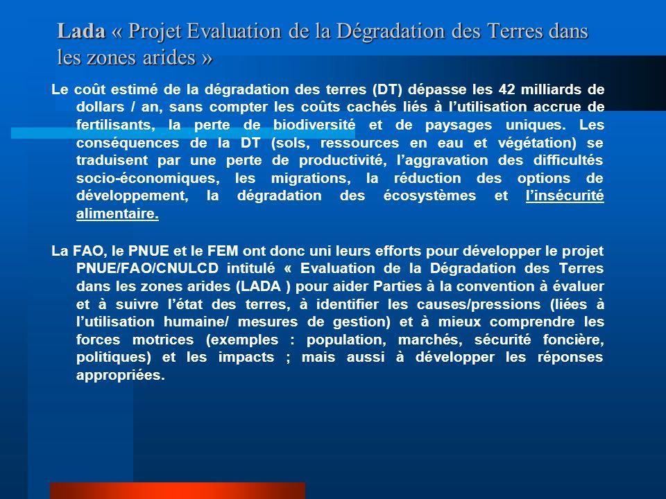 Lada « Projet Evaluation de la Dégradation des Terres dans les zones arides »