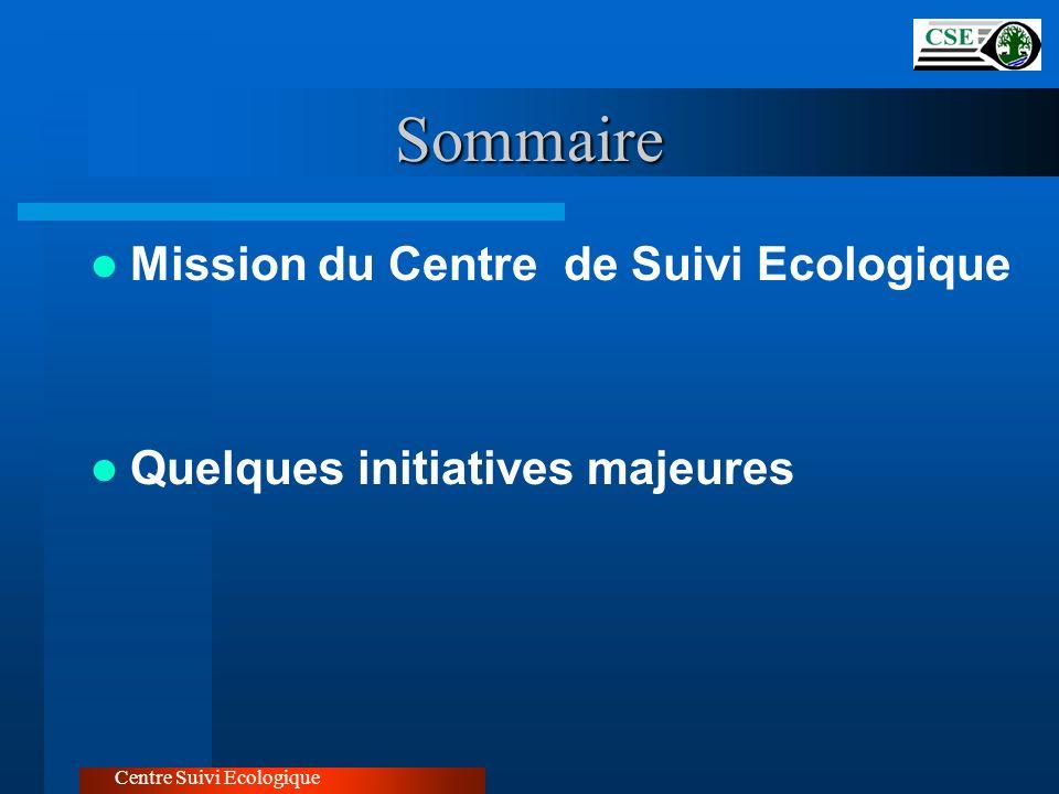 Sommaire Mission du Centre de Suivi Ecologique