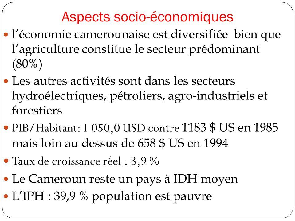 Aspects socio-économiques