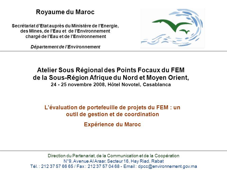 Atelier Sous Régional des Points Focaux du FEM