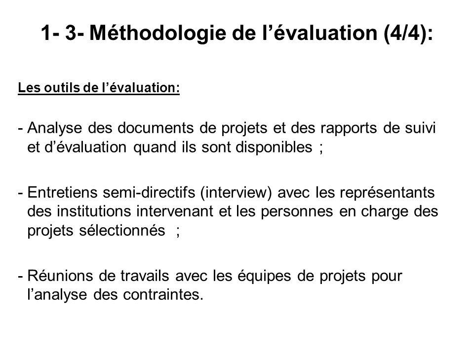 1- 3- Méthodologie de l'évaluation (4/4):