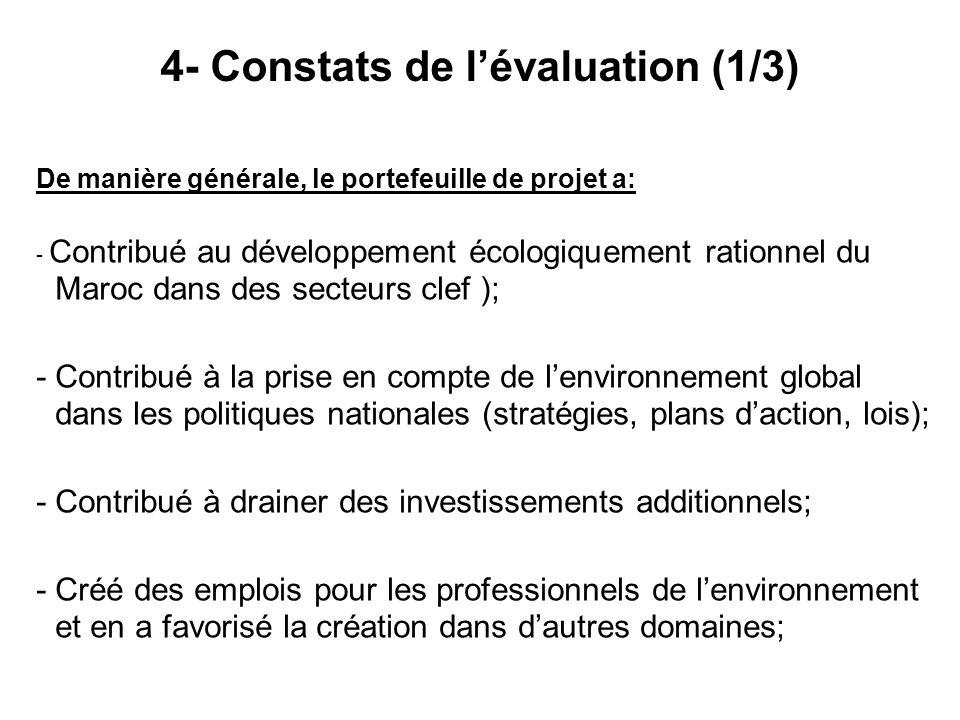 4- Constats de l'évaluation (1/3)