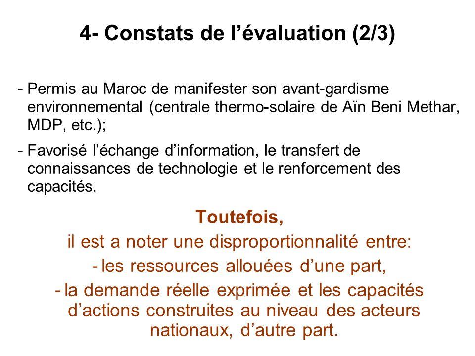 4- Constats de l'évaluation (2/3)