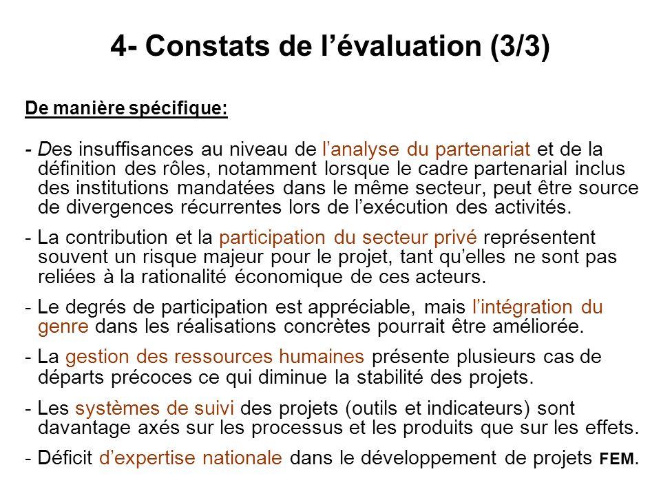 4- Constats de l'évaluation (3/3)
