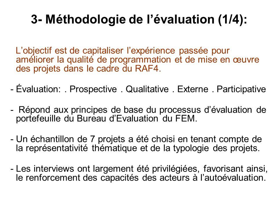 3- Méthodologie de l'évaluation (1/4):