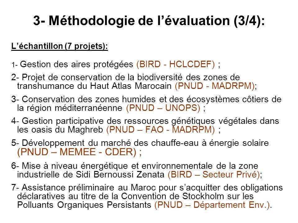 3- Méthodologie de l'évaluation (3/4):
