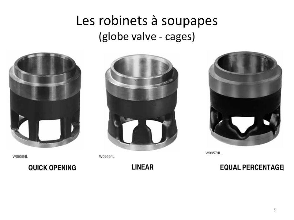 Les robinets à soupapes (globe valve - cages)