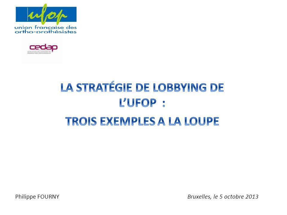 LA STRATÉGIE DE LOBBYING DE L'UFOP : TROIS EXEMPLES A LA LOUPE