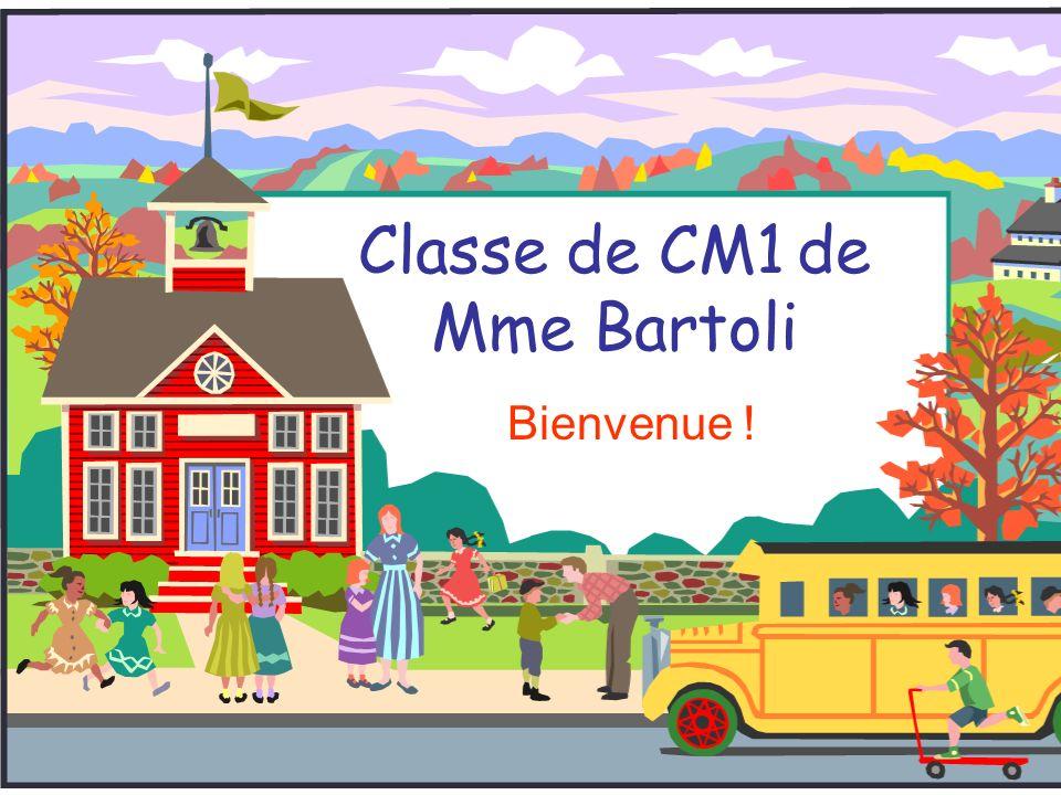 Classe de CM1 de Mme Bartoli