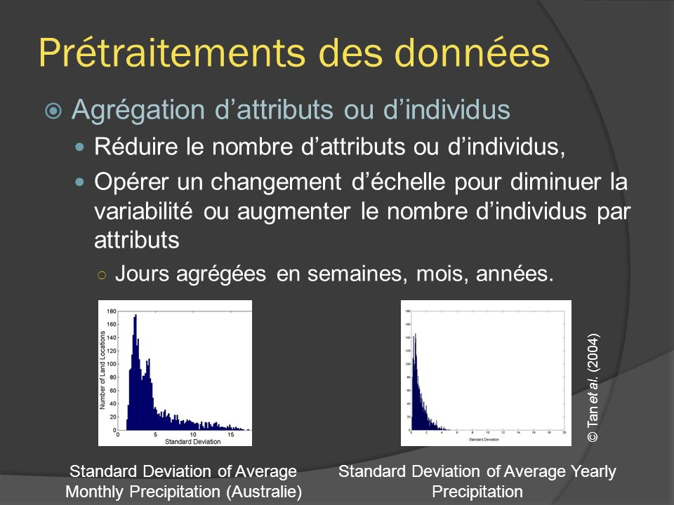 Prétraitements des données