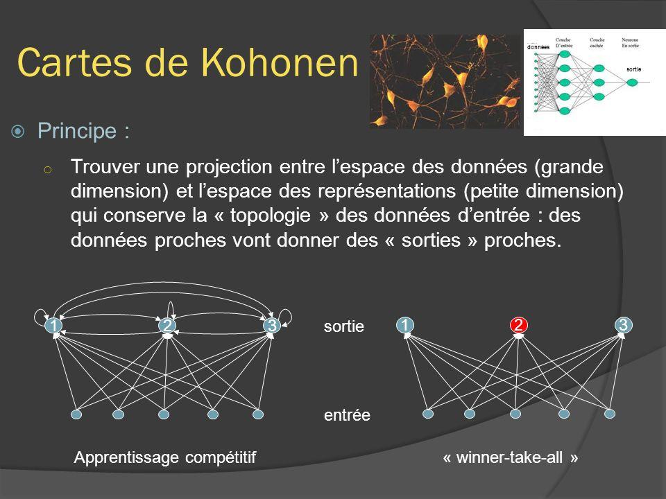 Cartes de Kohonen Principe :