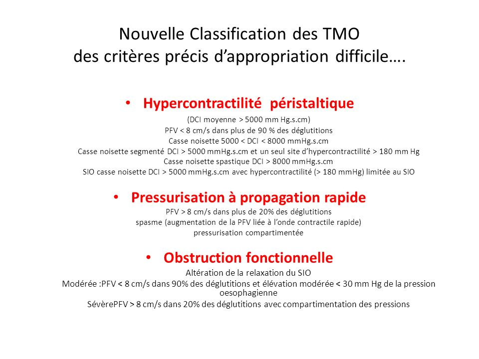 Nouvelle Classification des TMO des critères précis d'appropriation difficile….