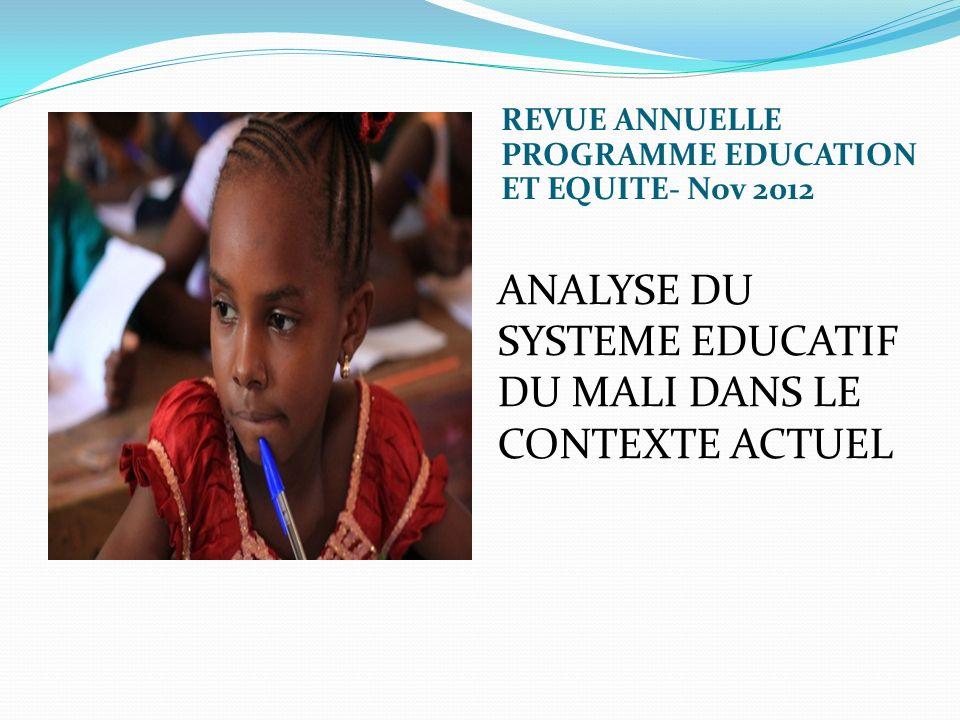 ANALYSE DU SYSTEME EDUCATIF DU MALI DANS LE CONTEXTE ACTUEL