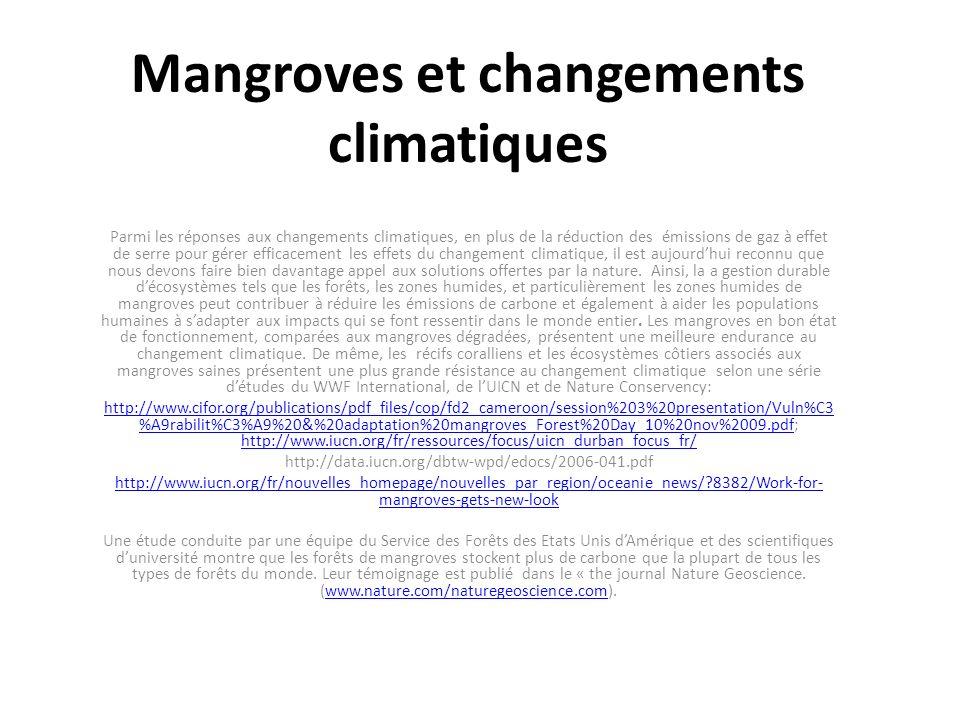 Mangroves et changements climatiques
