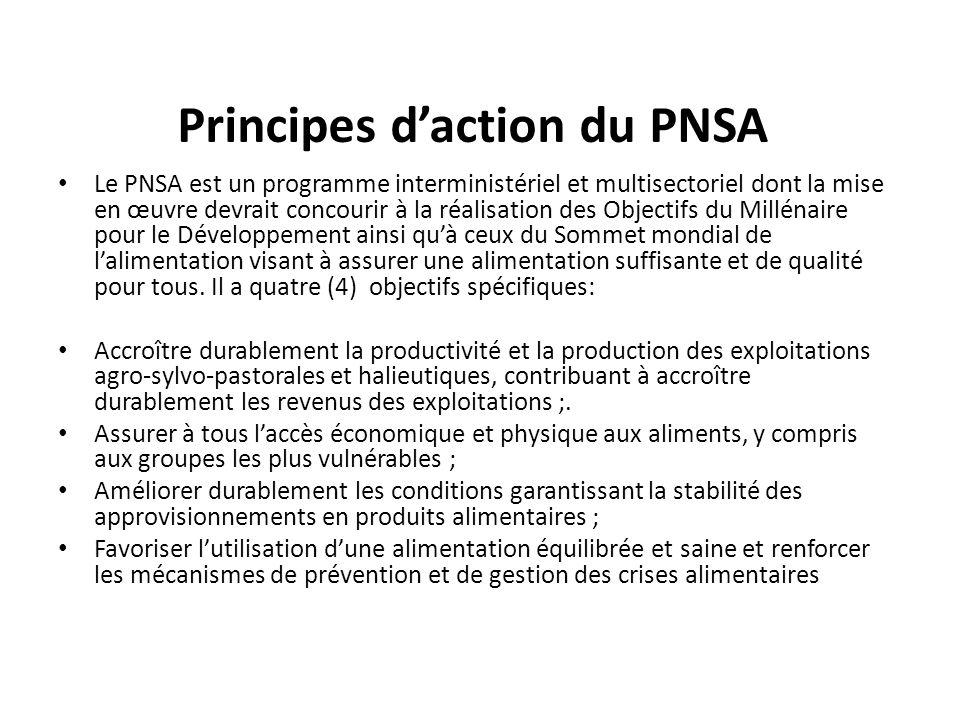 Principes d'action du PNSA
