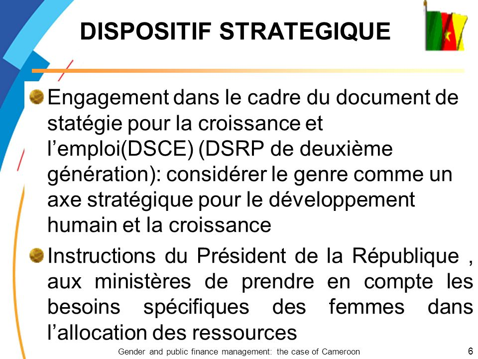 DISPOSITIF STRATEGIQUE