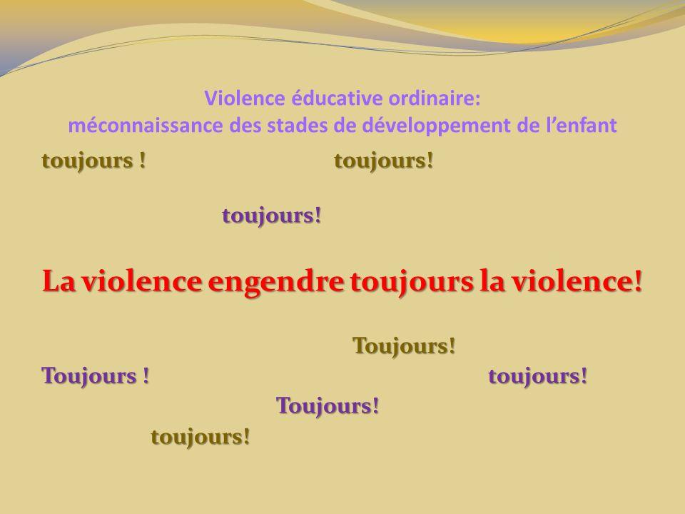 La violence engendre toujours la violence!